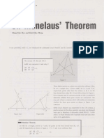 On Menelaus' Theorem (Hang Kim Hoo and Koh KM)