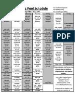 Spring Pool Schedule