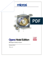 MIS Support Guide for Opera