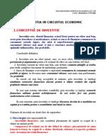 1. Investitia in Circuitul Economic