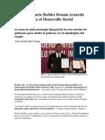 03-04-2013 Puebla Noticias - RMV y Rosario Robles Firman Acuerdo Integral Para El Desarrollo Social Incluyente