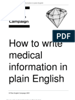 How to Write Medical Information in Plain English