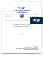 Ulster County Use of Take-Home Vehicles; a report by county Comptroller Elliott Auerbach