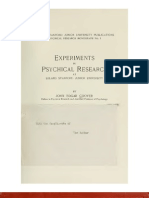 Experiments in Psychical Research - John E. Coover