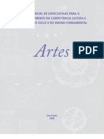 Caderno de Orientações didáticas - Artes