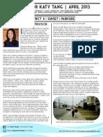 Supervisor Tang's April 2013 Newsletter