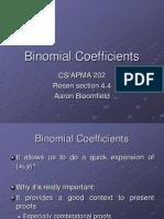 22 Binomial Coefficients