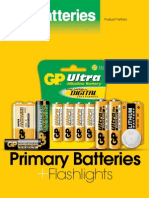 GP Batteries Menu