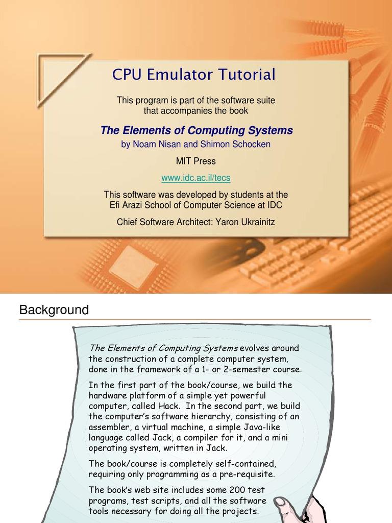 Cpu Emulator | Emulator | Instruction Set