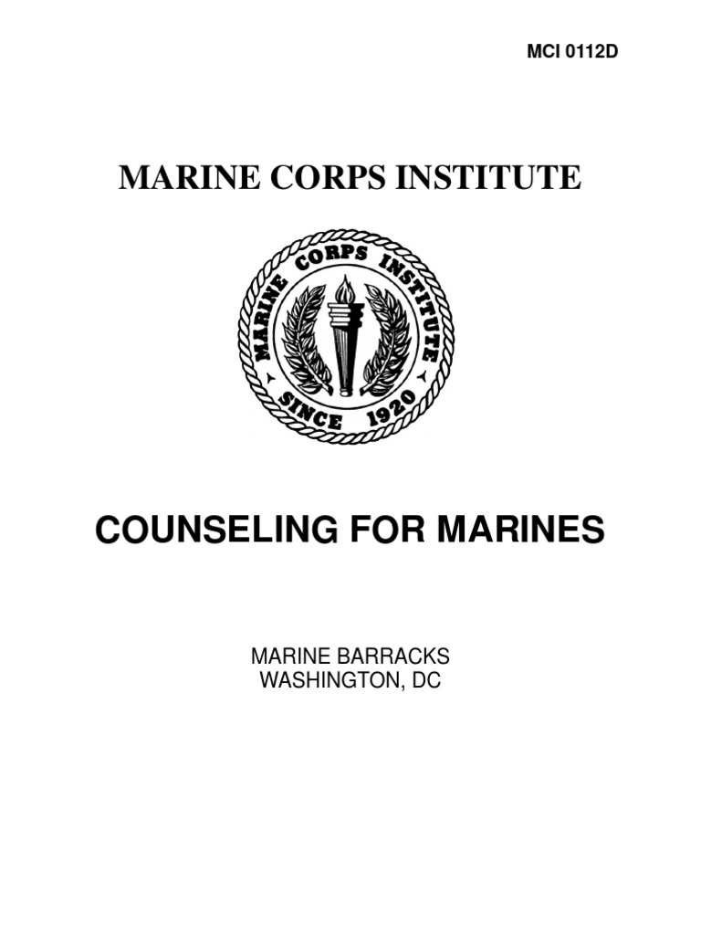 0112D Counseling for Marines Leadership Mentoring – Usmc Counseling Worksheet
