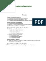 Estadística Descriptiva temario