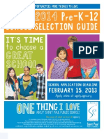 April 2, 2013 - St Paul School Selection Guide