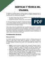 Características y técnica del voleibol