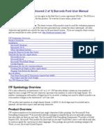 ITF Barcode User Manual