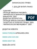 skripta finansijsko pravo 2013