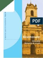Libro-Memorias de un país-bicentenario-nivel medio