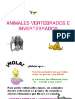 .Animales Vertebrados e Invertebrados
