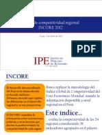 Indice de Competitividad Regional (INCORE) 2012 - IPE