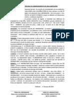 CONTRATO PRIVADO DE ARRENDAMIENTO DE UNA HABITACIÒN
