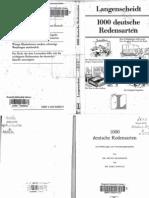 82858251 LANGENSCHEIDT 1000 Deutsche Redensarten