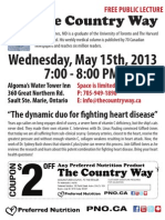 Free Public Lecture May 15 2013