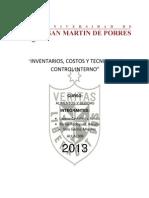 Inventarios, Costos y Tecnicas de Control Interno