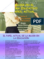 Práctica 3 Educación y Sociedad La mujer .