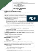 Constitucion de Sociedad, s.a. de c.V.