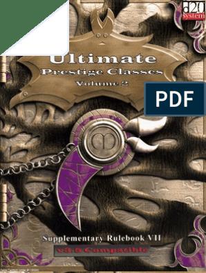 Ultimate Prestige Classes  Volume 2   Magic (Paranormal
