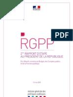 RGPP 2e Rapport d Etape Au President de La Republique