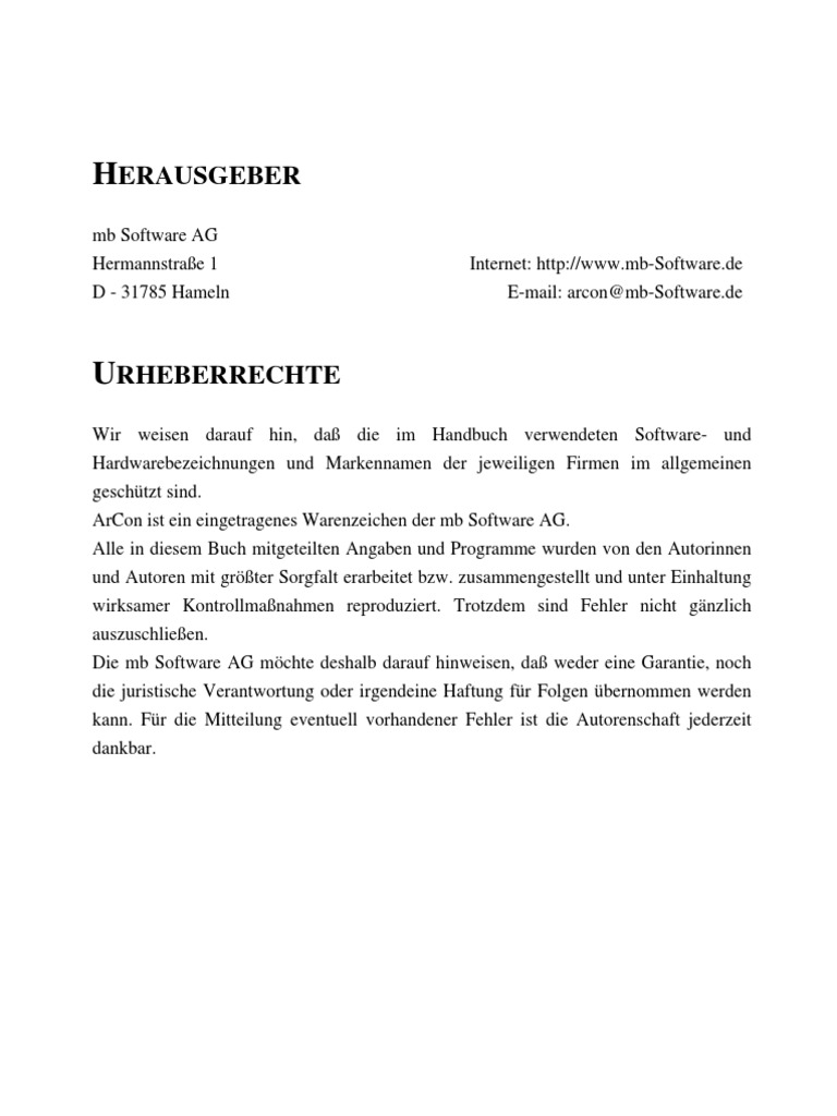 eBook - German) Arcon Handbuch