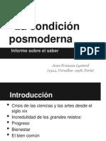Presentación La condición posmoderna