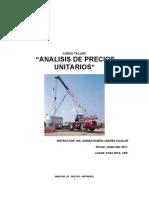 Manual Curso Taller Analisis de Precios Unitarios 2006