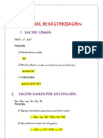 TUTORIAL  DE FACTORIZACIÓN
