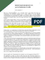 L'herméneutique de Benoit XVI - Dominicains d'Avrillé