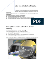 Introduction to the Freestyle Surface Modeling Process
