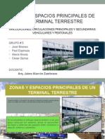 Zonas y Espacios Principales de Un Terminal Terrestre