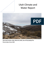 Utah Climate and Water Report April for 2013