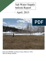 Water Supply Outlook Report for Utah April 2013