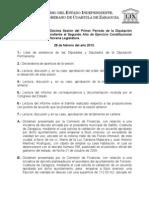 Documentos Registrados para la Sesión del día 28 de febrero de 2013