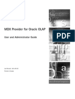 MDX Provider for Oracle OLAP User and Admin Guide