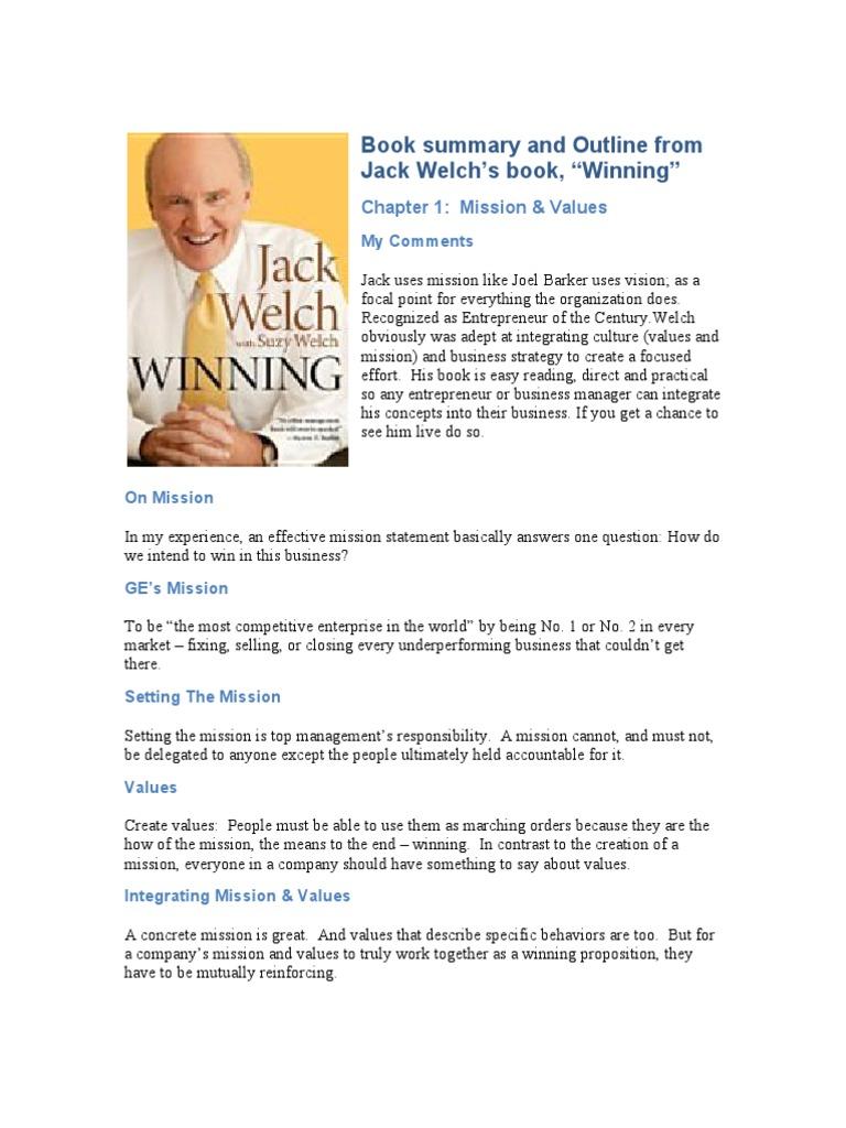 jack welch winning summary work life balance leadership
