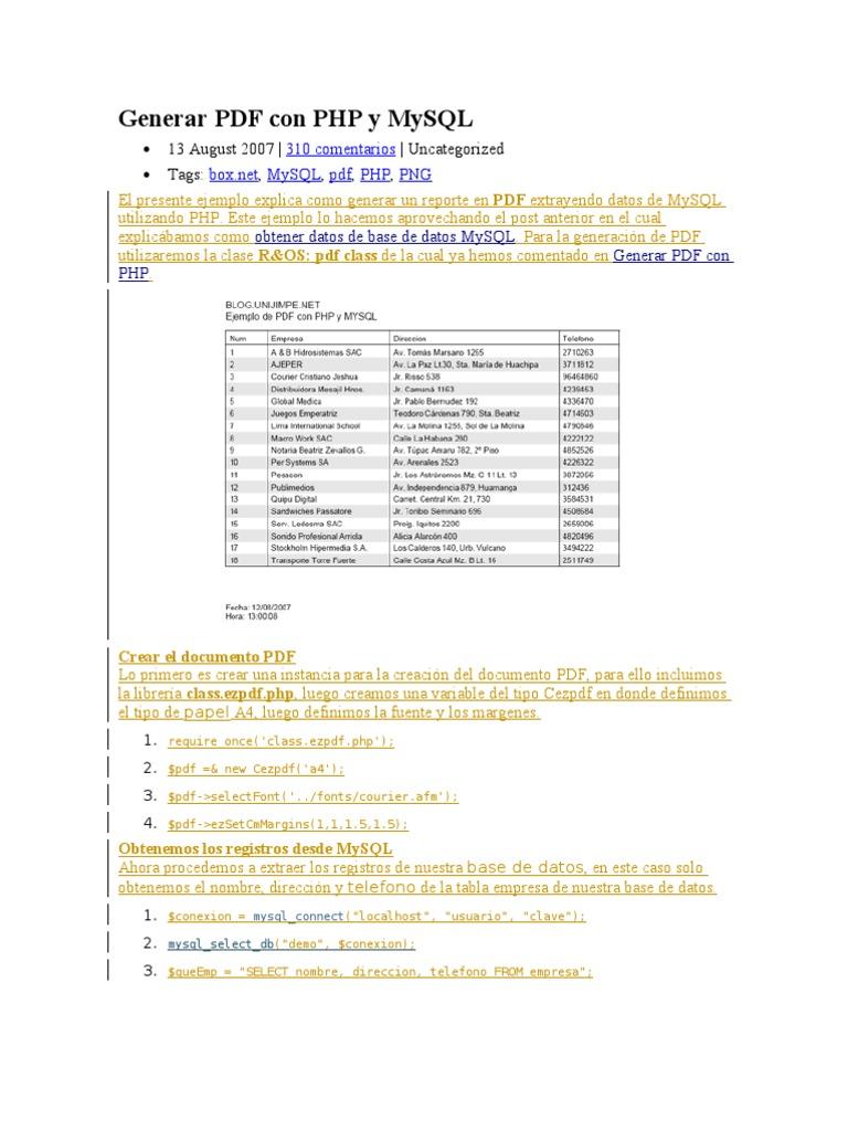 36626768 Generar PDF Con Php y Mysql
