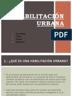 Habilitación Urbana
