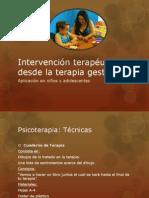 Intervención terapéutica desde la terapia gestáltica
