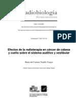 Efectos de la radioterapia en cáncer de cabeza y cuello sobre el sistema auditivo y vestibular
