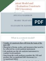 Karman Trapani Kennedy Content Model Dec Presentation Oidap 5-5-11