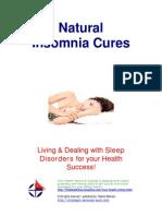 Free Sleep Disorders Insomnia Cures