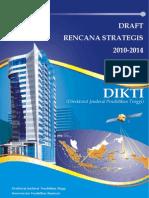 Draft Renstra DIKTI 2010-2014