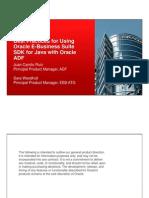 EBS SDK Best Practices